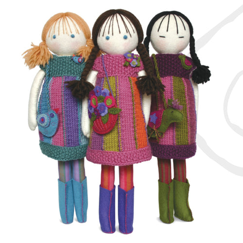 handmade felt dolls and accessories