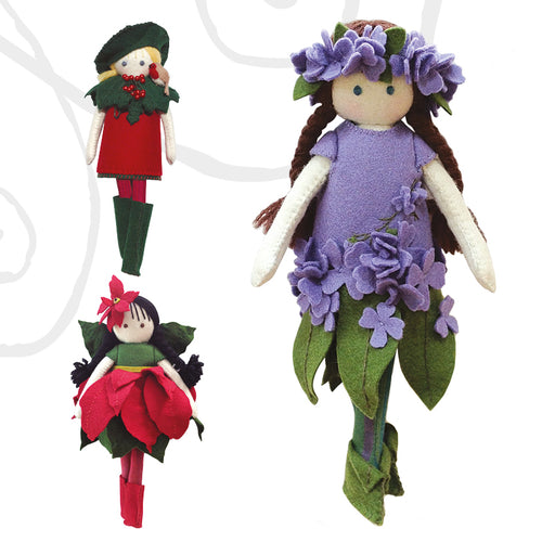 traditional yuletide flower fairies