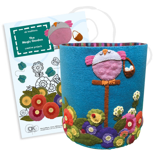the magic garden flower bin, sewing kit