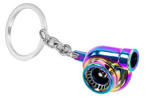 Tuned. Turbo Keyring (Neochrome)
