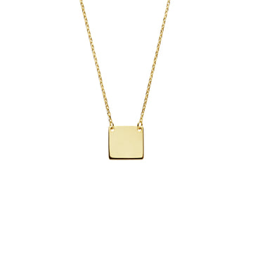 Serif necklace (gold or silver)