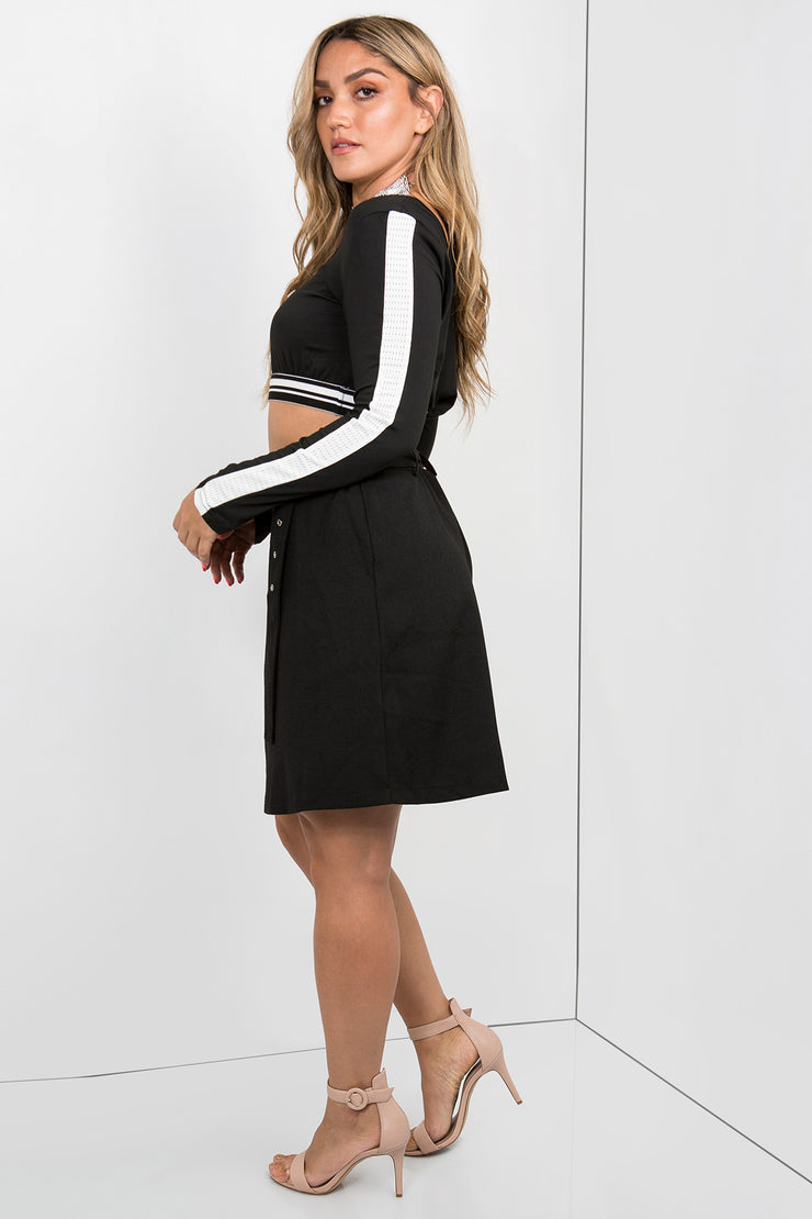 tailored mini skirt black