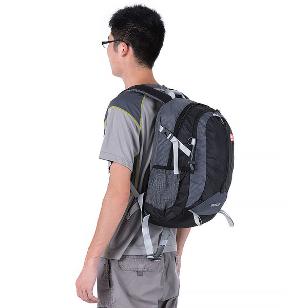 NatureHike 25L Lightweight Day Pack side view in black and grey