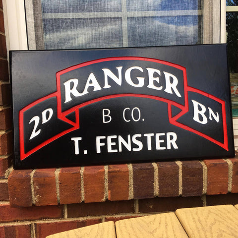 Ranger Scroll Plaque
