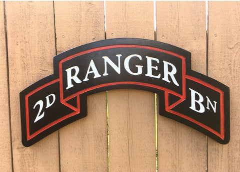 Hand carved Ranger Scroll