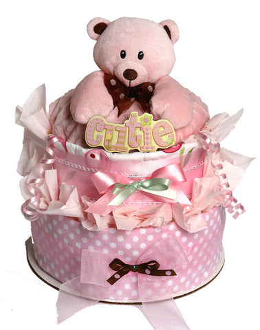 Bear Snuggler diaper cake