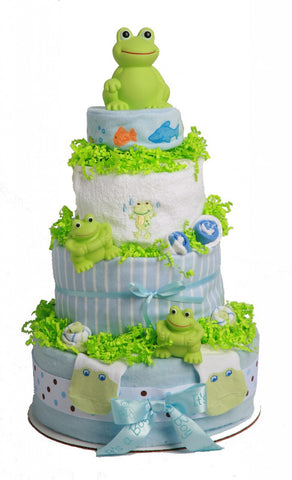 Lovable Friends Frog Diaper Cake