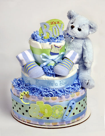 Very Blue Diaper cake