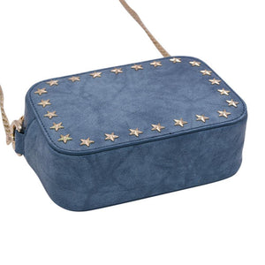The Star Stunner- Distressed Denim | POLICY Handbags | POLICY Handbags