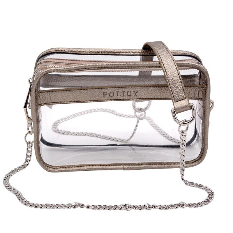 The Bare Box- Metallic Pewter | POLICY Handbags | POLICY Handbags