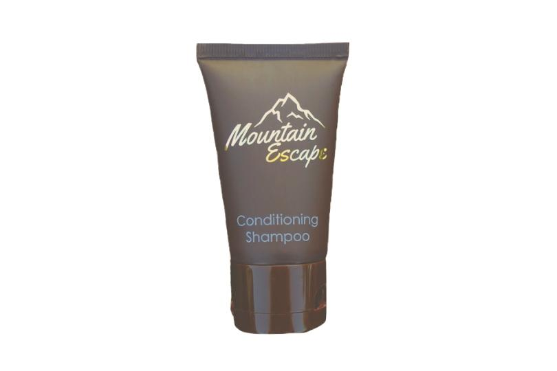 mountain escape hotel size shampoo
