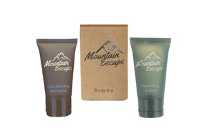 mountain escape hotel amenity kit