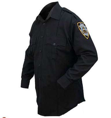 NYPD - 5.11 Tactical Womens NYPD Poly/Rayon Long Sleeve Shirt | Navy