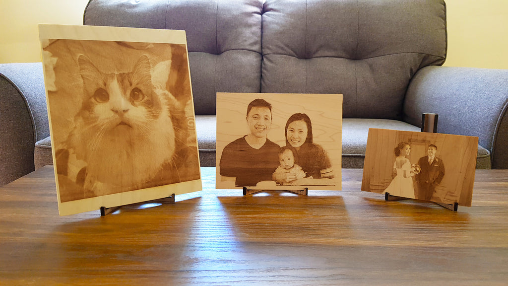 Wooden Photo Frame Stand for 4x6, 5x7, and 8x10 Wooden Photos and Photo Prints - Knock On Wood Co