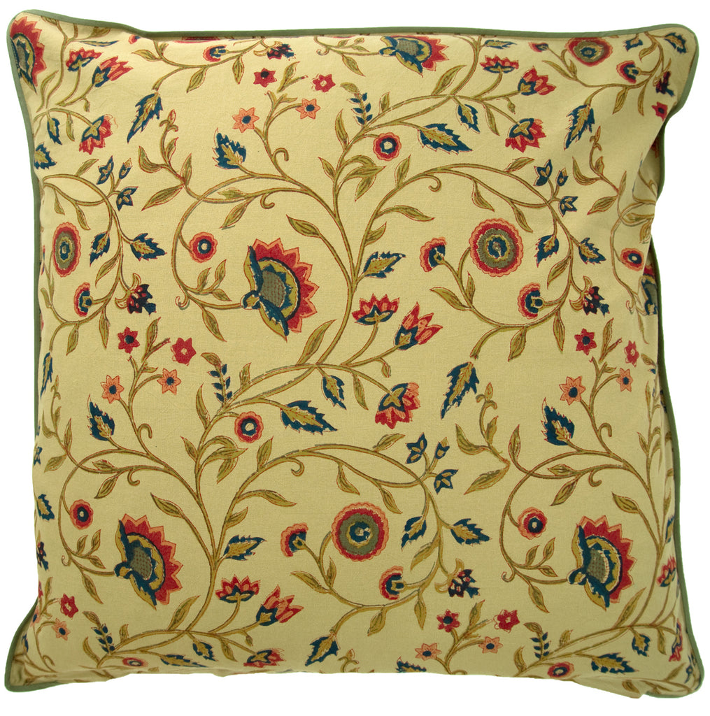 Cushion Covers in Olive Flower