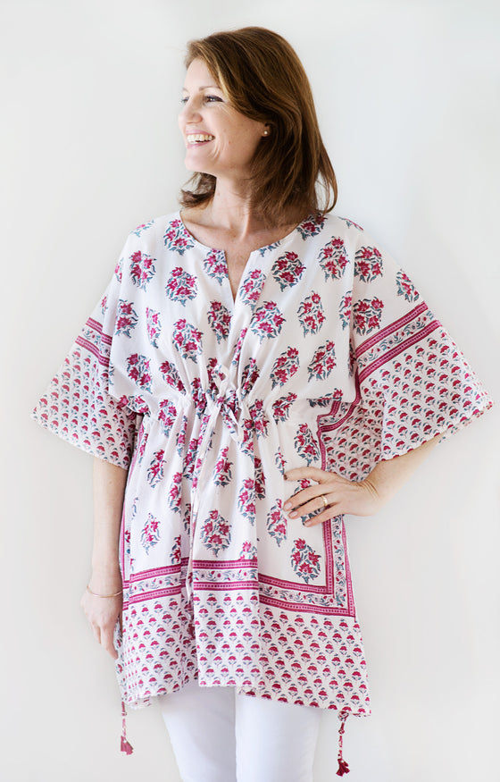 Peasant Tunic in Rosy Posy