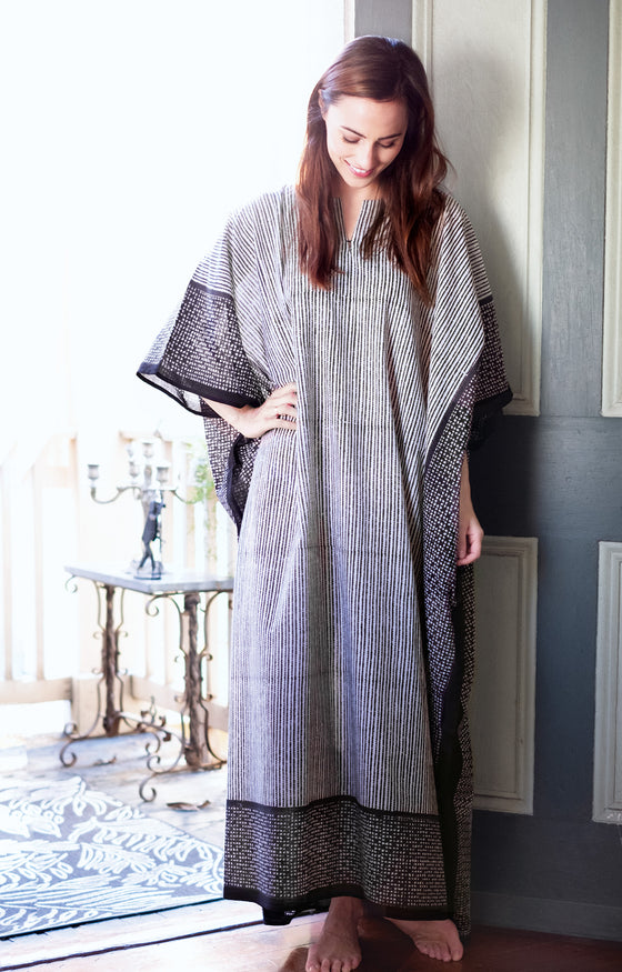 Kaftan in Zipper Stripe