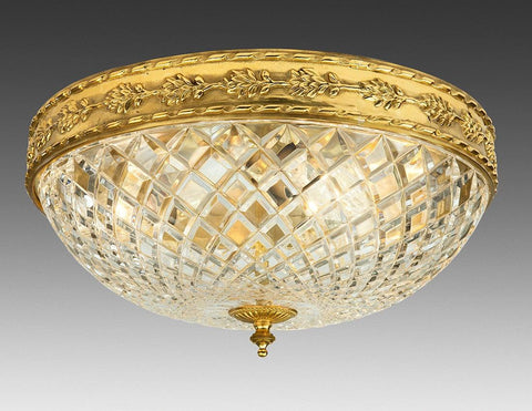 Cut Crystal And Cast Brass Ceiling Mount LCM-21