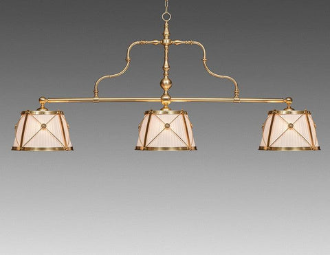 Brass And Fabric Three Shade Chandelier LCFI-74A