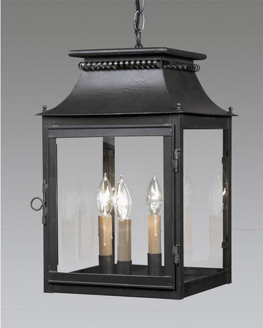Cut Out Top Design Lantern With Finials LEH-1