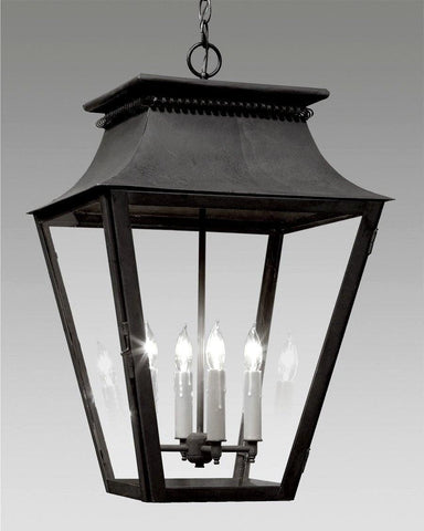 Hanging Tapered Cut Out Design Lantern LEH-24