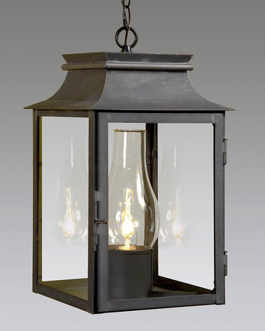 Light With Glass Shade Hanging Station Lantern LEH-3
