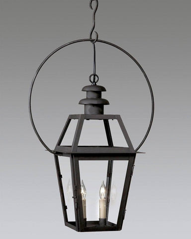 Hanging Mushroom Top Lantern with Yolk Bracket LEH-7