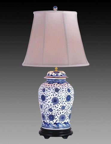 Porcelain Style Blue And White Lamp LPT-5