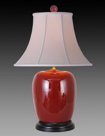 Porcelain Style Ox-Blood Lamp LPT-24