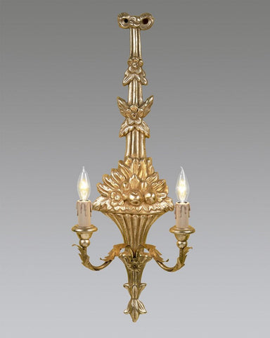 Floral Design Reproduction Wall Sconce