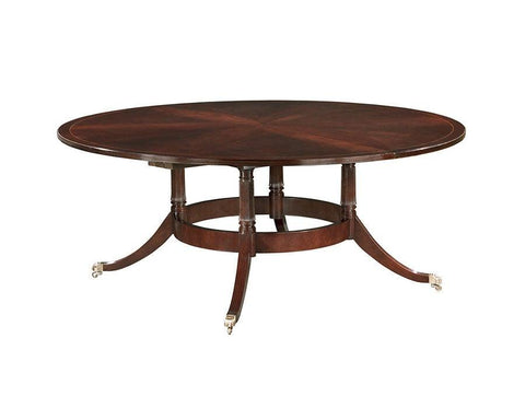 Federal style bird cage pedestal with open bottom round dining table FDTF-21