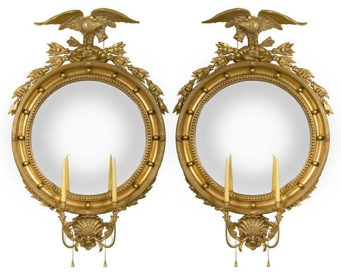 federal eagle convex mirror
