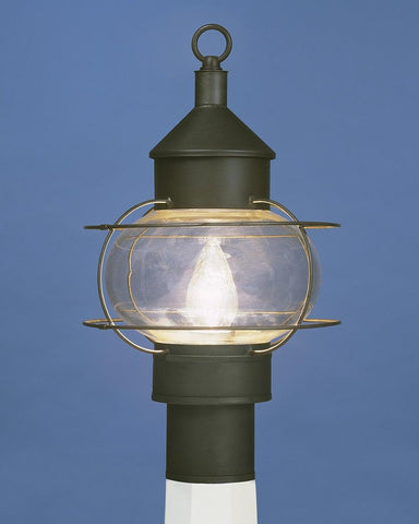 Post Mount Caged Onion Lantern LEPM-10