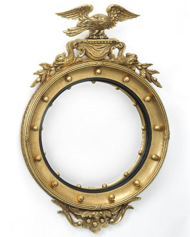 regency convex mirror with eagle and dolphin
