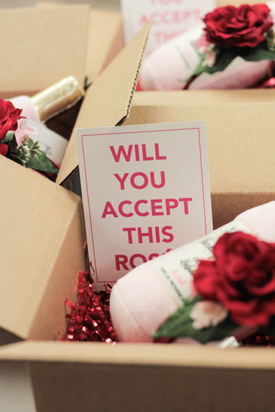 """BEST SELLER: Will You Accept This Rosé?"" Box 