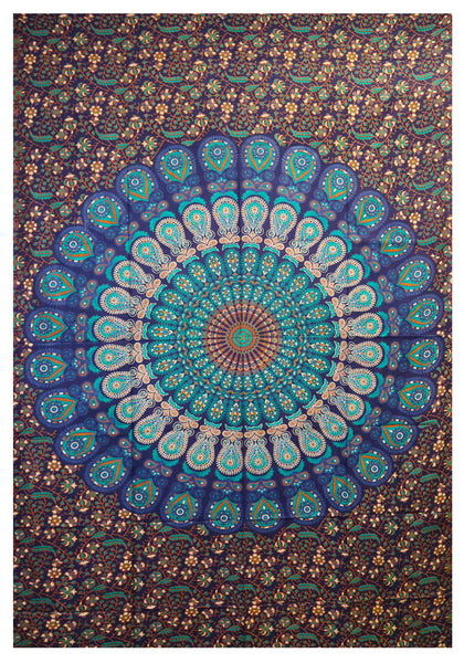 "Peacock Tapestry - 54""x86"""