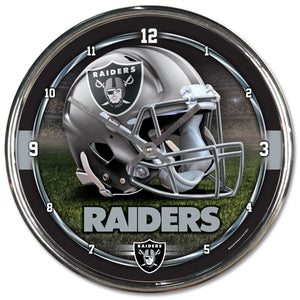 Oakland Raiders Chrome Plated Clock-Clock-Wincraft-Top Notch Gift Shop