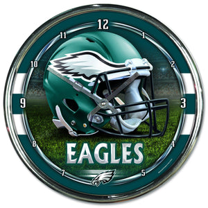 Philadelphia Eagles Chrome Plated Clock-Clock-Wincraft-Top Notch Gift Shop