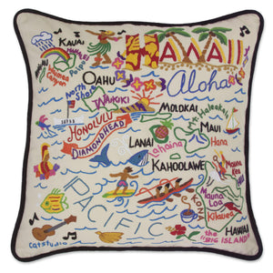 Hawaii State Embroidered CatStudio Pillow-Pillow-CatStudio-Top Notch Gift Shop