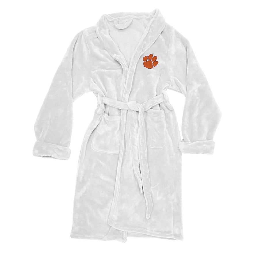 Clemson Tigers Men's Silk Touch Plush Bath Robe-Bathrobe-Northwest-Top Notch Gift Shop