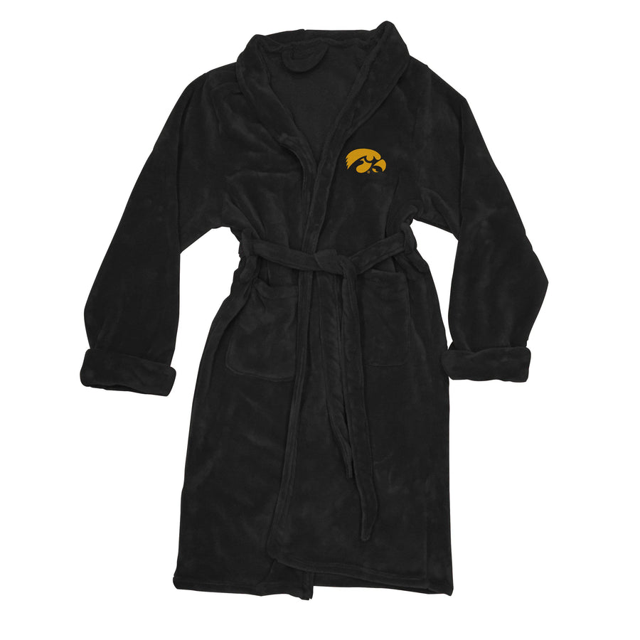 Iowa Hawkeyes Men's Silk Touch Plush Bath Robe-Bathrobe-Northwest-Top Notch Gift Shop