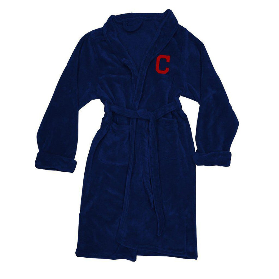 Cleveland Indians Men's Silk Touch Plush Bath Robe-Bathrobe-Northwest-Top Notch Gift Shop