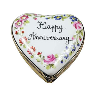 Anniversary Heart Limoges Box by Rochard™-Limoges Box-Rochard-Top Notch Gift Shop