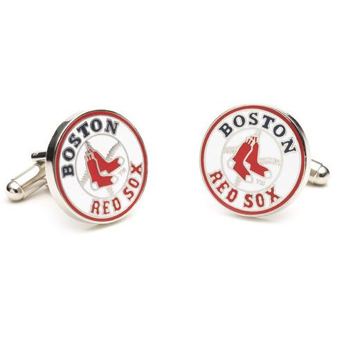 Boston Red Sox Enamel Cufflinks-Cufflinks-Cufflinks, Inc.-Top Notch Gift Shop