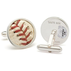 Chicago White Sox Authenticated Game Used Baseball Stitches Cuff Links-Cufflinks-Tokens & Icons-Top Notch Gift Shop