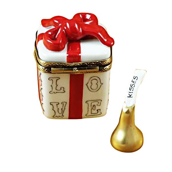 Love Gift Box With Xo/Xo And Removable Kiss Limoges Box by Rochard™-Limoges Box-Rochard-Top Notch Gift Shop
