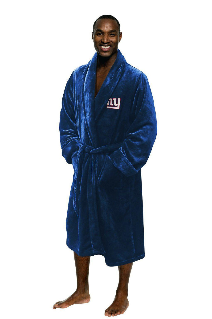 New York Giants Men's Silk Touch Plush Bath Robe-Bathrobe-Northwest-Top Notch Gift Shop