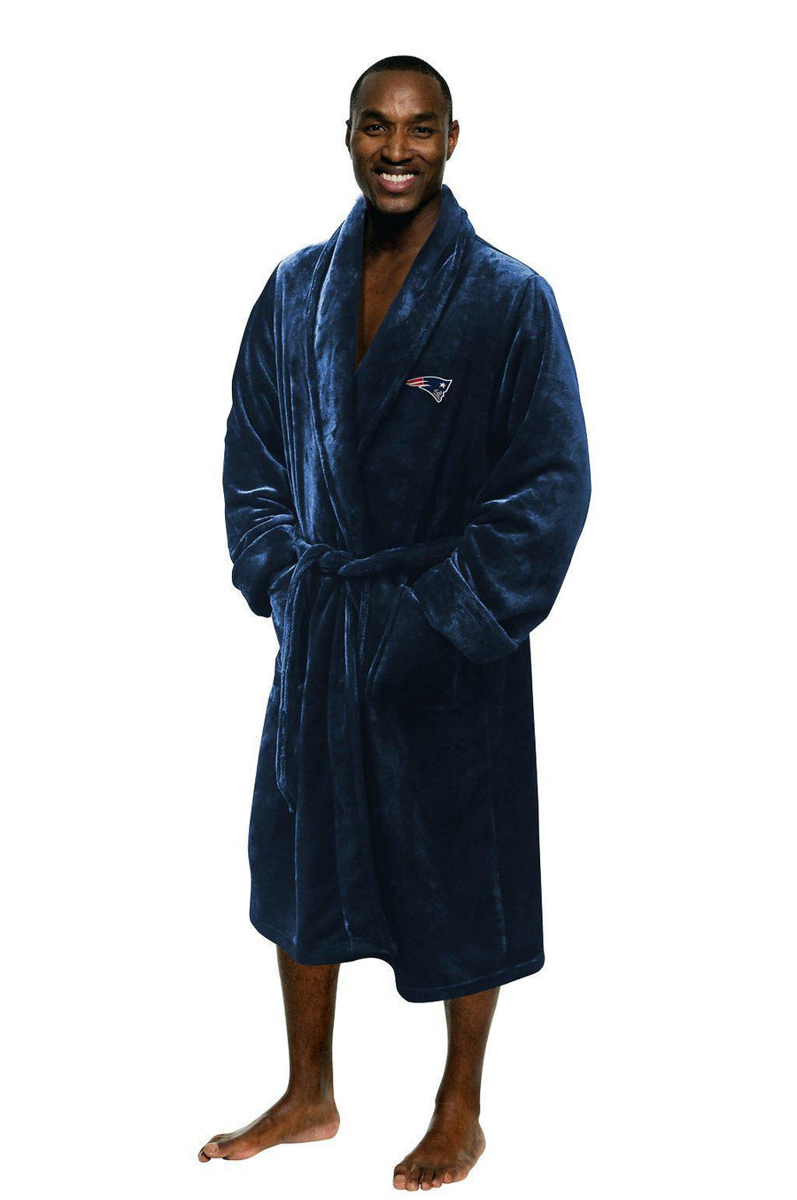 New England Patriots Men's Silk Touch Plush Bath Robe-Bathrobe-Northwest-Top Notch Gift Shop