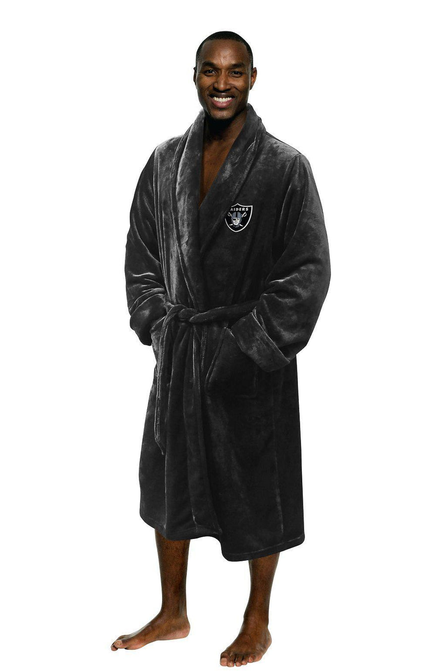 Oakland Raiders Men's Silk Touch Plush Bath Robe-Bathrobe-Northwest-Top Notch Gift Shop