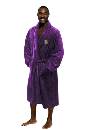 Minnesota Vikings Men's Silk Touch Plush Bath Robe-Bathrobe-Northwest-Top Notch Gift Shop